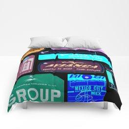 Vintage Inverted Luggage Tags 2 Comforters