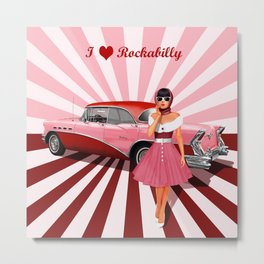 I love Rockabilly Metal Print