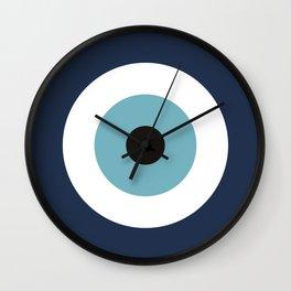 Evil Eye blue protection / Mataki Wall Clock