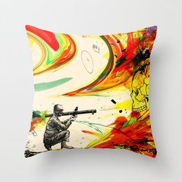 Bazooka Overload Throw Pillow