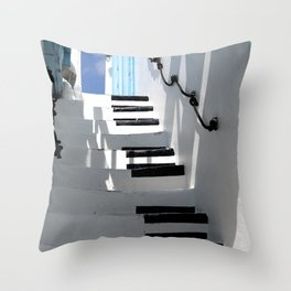 Stairway to Your Best Summer Holiday Throw Pillow