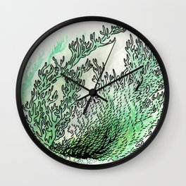 seaweed circuit Wall Clock