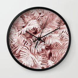 Fern Bush Blush Pink | Bedroom Art Wall Clock