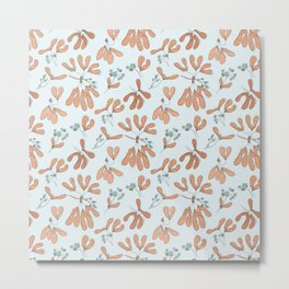 Maple bloom pattern Metal Print