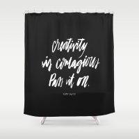 creativity Shower Curtains featuring Creativity by Caroline Sleeper
