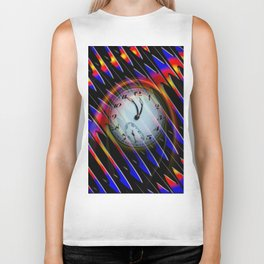 Abstract - Perfection- Time is running Biker Tank