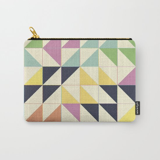 Triangles and Squares III Carry-All Pouch