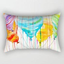Balloons Watercolor Rectangular Pillow