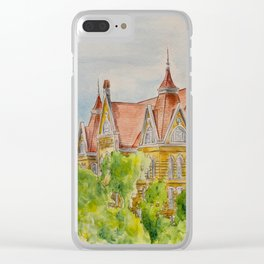 Texas State (SWT) University Old Main Building, San Marcos, TX Clear iPhone Case
