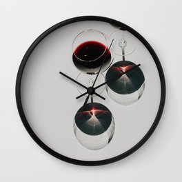 On Wednesdays We Drink Red Wine Wall Clock