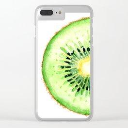 Tutti Frutti. Kiwi. Clear iPhone Case
