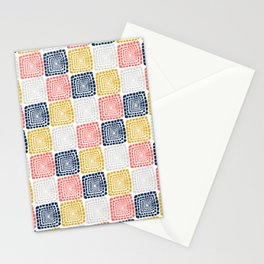 Bohemian Sandcastles- Random: Coral, Blue, Ochre, Gray Stationery Cards
