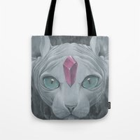 """sphynx Tote Bags featuring """"Sphynx"""" by Edward Cao"""