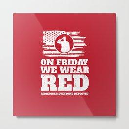 Wear Red Friday Veteran Soldier Metal Print