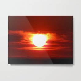 Flaming Skies Above the Mountain Range Metal Print