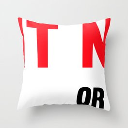 Do It Now Or Never Fitness & Bodybuilding Motivation Quote Throw Pillow
