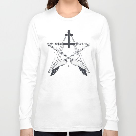 Idle hands are the devil's playthings Long Sleeve T-shirt