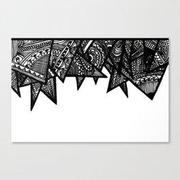 Triangle Henna Print- B+W Canvas Print
