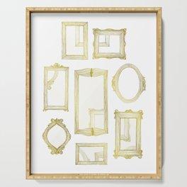 Golden Frames Serving Tray