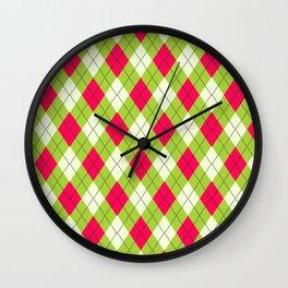 Hideous Argyle Wall Clock