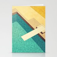 pool Stationery Cards featuring Pool by Herb Vaine