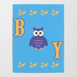 Owl Baby Boy Poster