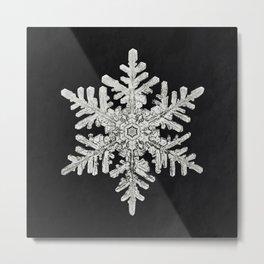 Wilson Bentleys Snowflake 1152 (ca 1890) detailed photograph of snowflakes in high resolution by Wil Metal Print