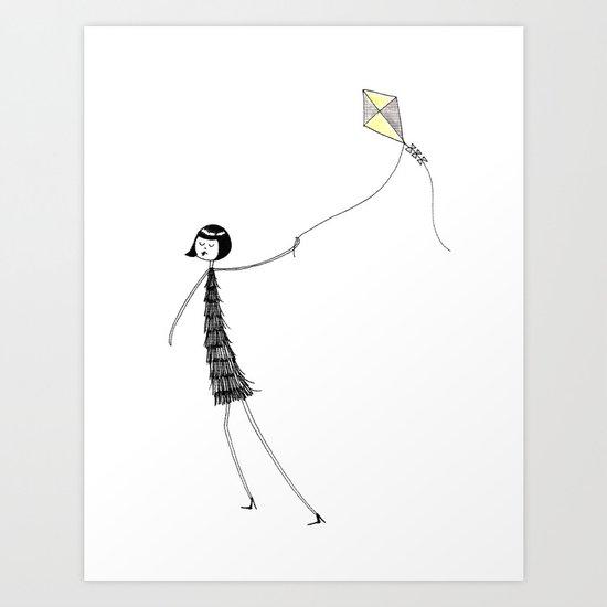 Let's go fly a kite Art Print