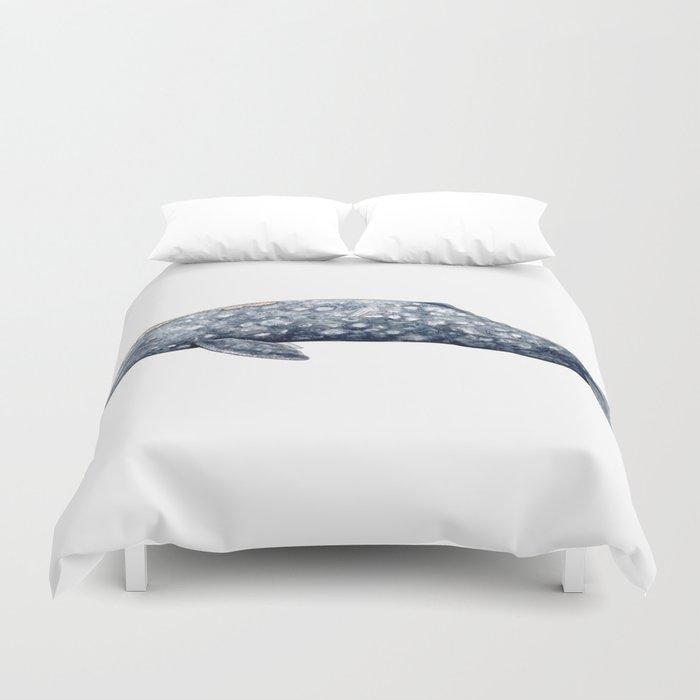 Grey whale Duvet Cover