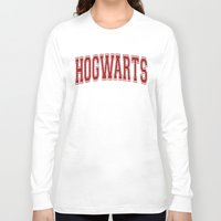 hogwarts Long Sleeve T-shirts featuring Hogwarts  by DTbase+