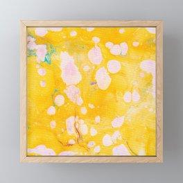 speckled marble   yellow Framed Mini Art Print