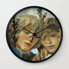 Sandro Botticelli - Angels 1. detail Wall Clock