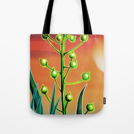 Wild plant at sunset Tote Bag