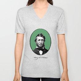 Authors - Henry David Thoreau Unisex V-Neck