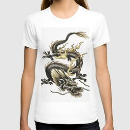 Chinese Dragon Isolated On White T-shirt