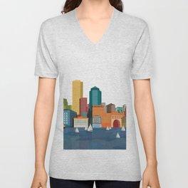 City Boston Unisex V-Neck