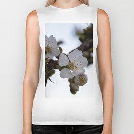 Cherry blossoms on cherry branch Biker Tank