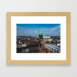 Church in the city Lübeck Germany Framed Art Print