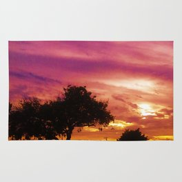 Amazing Sunset over Trees by Jeronimo Rubio Photography 2016 Rug