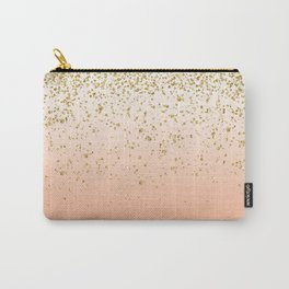 Classy faux gold confetti blush gradient image Carry-All Pouch