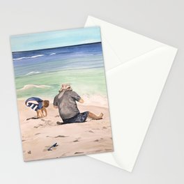 Digging holes Stationery Cards