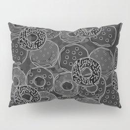 Dark donut | Love donuts | Goth donut | Donut Decor | Donut Designs Pillow Sham
