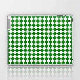 Small Diamonds - White and Green Laptop & iPad Skin