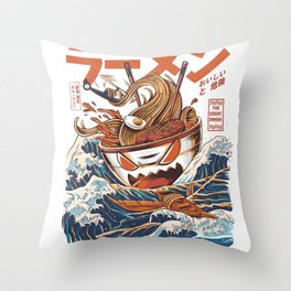 Great Ramen off Kanagawa Throw Pillow