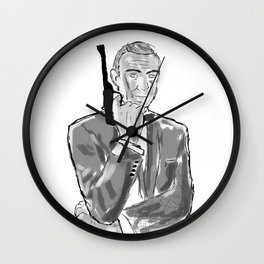 The first secret agent (Connery) Wall Clock