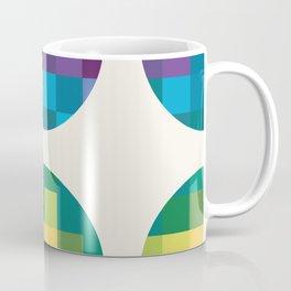 Pixelated Circles Quilt Coffee Mug
