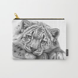 Snow Leopard Cub G105 Carry-All Pouch