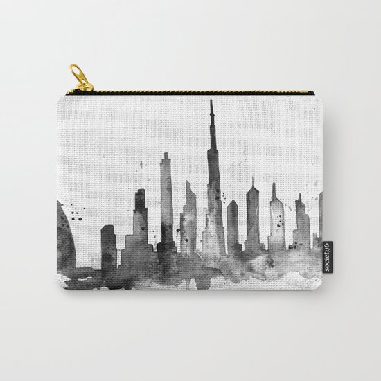 Dubai, black and white art Carry-All Pouch