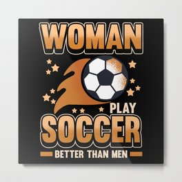 Soccer Sports Game Team Footballer Gift Metal Print
