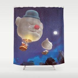 SmileDog Balloon Shower Curtain